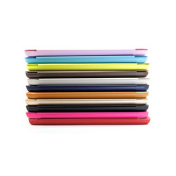 lovely pink pu Leather Case for iPad mini Smart Cover Case
