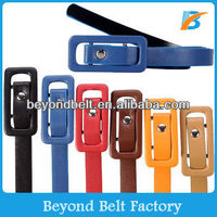 Hot Sale!Fashion Girls Candy Color Skinny Pu leather Belt