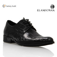 Men classic oxford pointed toe leather dress shoes