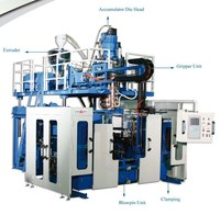 ULTRA HMW HDPE LARGE ARTICLE ACCUMULATOR DIE HEAD EXTRUSION BLOW MOLDING MACHINE