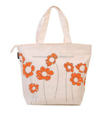 2015 Factory directly supply customized cotton canvas tote bag/women cotton shoulder bag