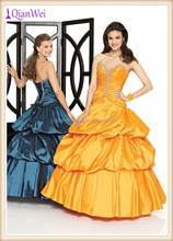 wholesale price strapless sweetheart ruched taffeta skirt back lace up victorian ball gowns plus size