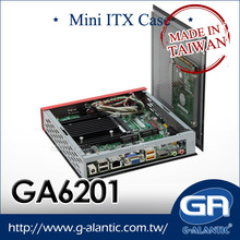 GA6201 Digital Signage mini pc with DN2800MT Intel motherboard thin mini itx case