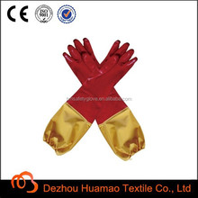 pvc working gloves long sleeve for fishing