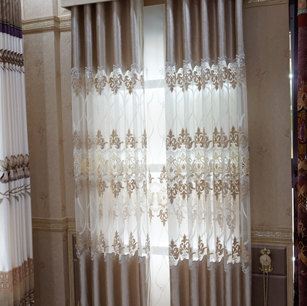 High quality european new style laser embroidered latest curtain designs 2015 buy european new - Curtain new design ...