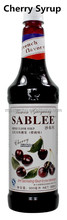 Sablee French Cherry Flavoured Syrup Food Flavouring Essence Beverage Drinks 900ml