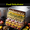 Household food dehydrator with 10 trays