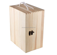 3 bottle wine carry wooden box for wine