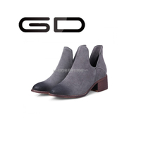 2015 latest woman ankle boots chunky square heels sexy Fashion simple and elegant leisure nubuck leather ankle boots