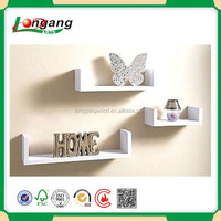 Modern Wooden Wall Flower Decorative Wooden Wall Shelf Furniture for Home Decoration
