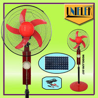 """Low price 16"""" air conditioner fan covers 24 LED outdoor solar fan with 1350RPM"""