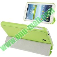 Belk Series Cross Texture 3-fold Magnetic Flip Smart Cover for Samsung Galaxy P3200