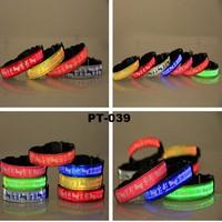 Pet Collar Led Light Up Leash Dog Pet Night Safety Bright Flashing Adjustable Nylon