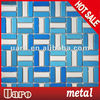 lowest price brushed polished wall decor metal strip mosaic