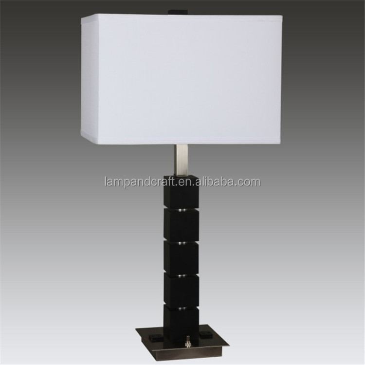cul study table lamp with usb port and power outlet buy hotel lamps. Black Bedroom Furniture Sets. Home Design Ideas