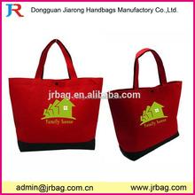 Popular recycle red felt tote shopping bag/felt shoulder bags for girls