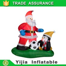 150cm christmas santa claus inflatable with penguin for sale