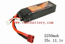 hot type RC Model Battery 35C 2250mah 11.1V LiPo Battery for airplane