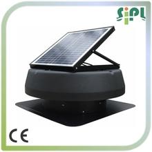 20 vatios panel solar powered ventilación de escape del ventilador del ventilador con 24v cepillo motor de corriente continua