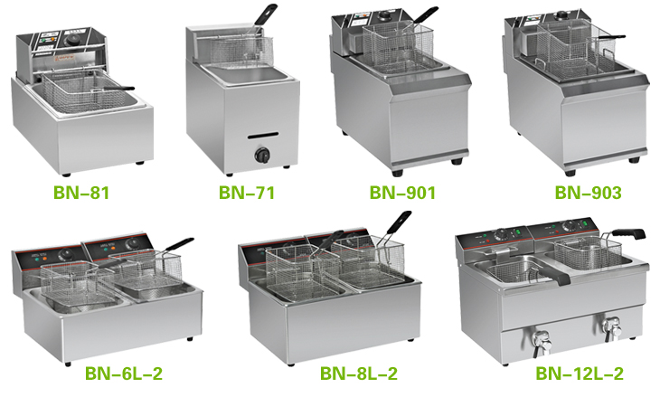 Stainless Steel Gas Deep Fryer Chip Fryer Catering