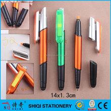 Sticky note stylus ballpoint highlighter pen 4 in 1 combo pen
