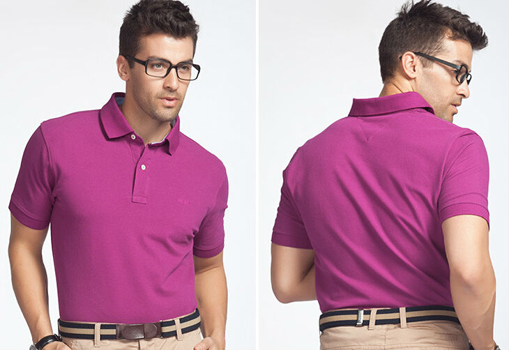 Blank Fitness Fitted Printed Blank Polo
