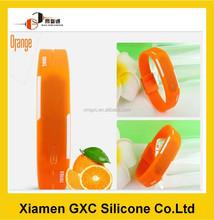 high promotiom orange silicone watch wrist