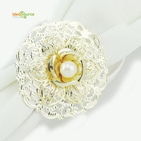 Wholesale High Quality Table Decoration Pearl Napkin Rings