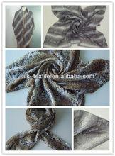 printed silk crinkle georgette scarf