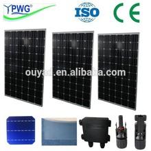 200W 250W 300W Monocrystalline flexible solar panel solar panel for home use / mono best solar panel price