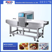 MCD-F500QD OEM dimension size conveyor food high sensitivity metal needle detector for dry food