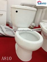 Correa siphonic de cerámica toiletA810 de dos piezas de la venta del diseño caliente del cuarto de baño
