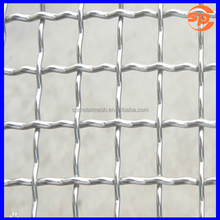 Factory price 3/4 inch square mesh T304 stainless steel crimped wire cloth