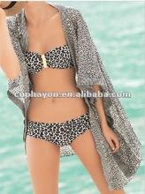 2014 de leopardo de impresión bikini abierto fotos de mujeres