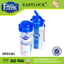 Botella del deporte de agua de plástico: PP y libre de BPA