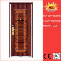 Indian cheap main steel door design SC-S025