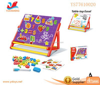 Double side multi-function kids magnetic board children's easel with magnetic number
