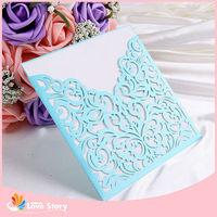 Modern Pearl Butterfly Scroll Wedding Invitations
