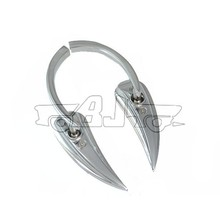 BJ-RM-377 Manufacture billet aluminum adjustable angle chrome rearview mirror motorcycle