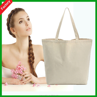 Wholesale recycled promotion High quality White natural color Eco friendly OEM customized organic 8oz Canvas Cotton tote Bag