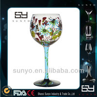 Hot Sale Handmade Painted Wine Glass Patterns/Goblets