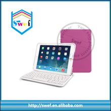 Bluetooth Keyboard leather smart cover for ipad mini