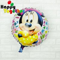HAPPY TOGETHER Factory Wholesale New Mickey Printed On Round helium Balloon
