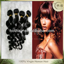 unprocessed grade aaaaa natural color loose wave kbl peruvian hair 100% human hair weaving