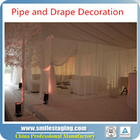 2015 Used pipe and drape for large banquet halls with fabric drape,wedding pipe and drape wedding backdrop stand