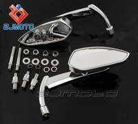 Chrome Universal Motorcycle Rear View Mirror Side Mirror Motorcycle Mirror For Naked Bikes And Cruiser Bike with 8mm/10mm Thread
