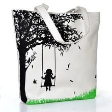 Wholesale Women ladies Print Canvas Handbag shoulder bags blank canvas sling bag BAGS SV017075