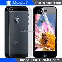 China No.1 Brand For iPhone Accessories For iPhone 5 Screen Protector Front And Back
