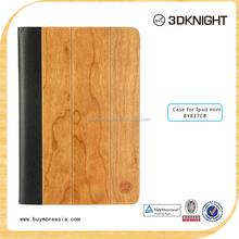 wood leather stand case for ipad Mini,for apple ipad mini pu cover