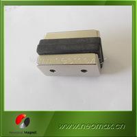 Large block NdFeB neodymium magnet with countersunk